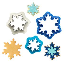 Sneeuwvlokken uitstekers - set/3
