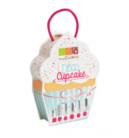 Deco Cupcake spuitmondjes decorating set/6