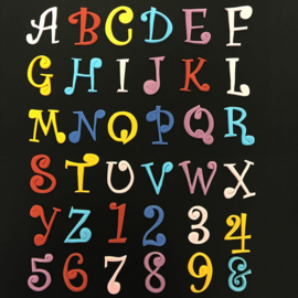 Funky Alphabet & numbers - Uppercase tappits set