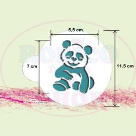 Baby Panda - stencil sjabloon