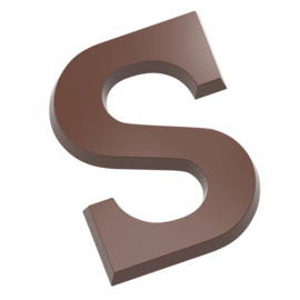 Chocolade Letter S 135grams x2 - polycarbonaat
