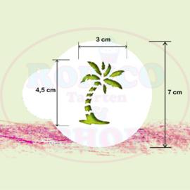 Palmboom - stencil sjabloon