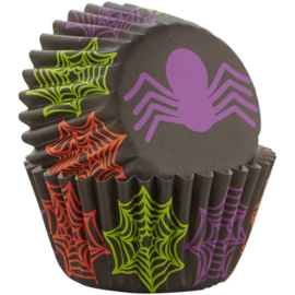 Halloween Mini Bakingcups spider and webs - pk/100