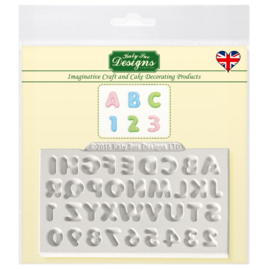 Mini Domed Alphabet & Numbers - Mold