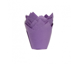 Muffin Tulp cups - paars 36st