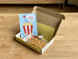 Just POPPIN by to say happy birthday box (blauw)   Snoepboxen
