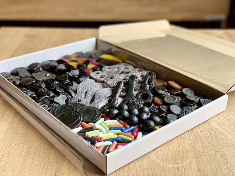 Drop verrassing snoepbox (Maat L)   Snoepboxen