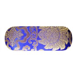 Brillenkoker koningsblauw met motief