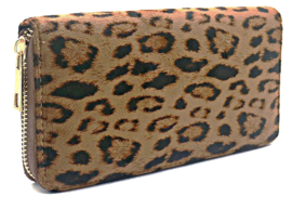 Portemonnee luipaardprint bruin zwart