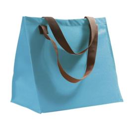 Shopping bag aquablauw