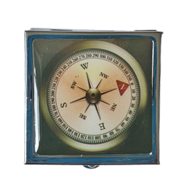 Pillendoosje kompas donkergroen