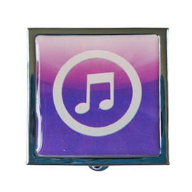 Pillendoosje muzieknoot paars