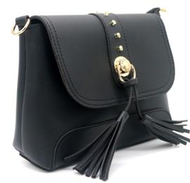 Zwarte handtas met tassels