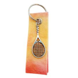Sleutelhanger sunrise met tennisracket