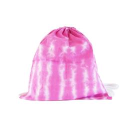 Rugtas handgeverfd - roze wit