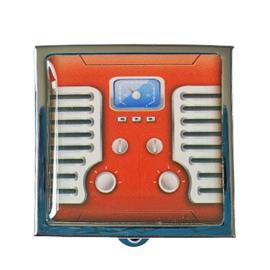 Pillendoosje radio rood
