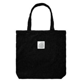 Tote bag zwart corduroy