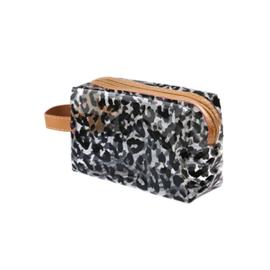 Make-uptasje - luipaardprint zwart transparant