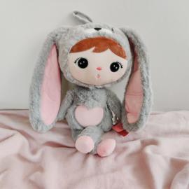 Metoo - Grijs/roze konijn