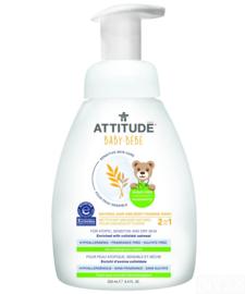 Attitude Sensitive Skin - 2-in-1 natural hair & body foaming wash