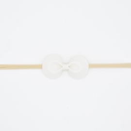 Noah & Sisi - Haarbandje met kunstleer strikje - gebroken wit
