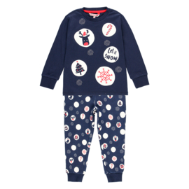 Boboli - Fleece pyjama set Kerst - donkerblauw