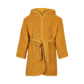 Pippi Babywear - Badjas met capuchon - okergeel