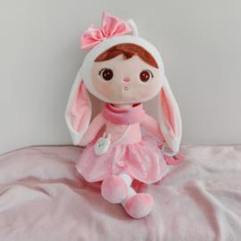 Metoo - Roze konijn met handtasje