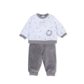 Tutto Piccolo - Velours pyjama blauw