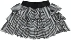 ido - Zwart-wit gestreepte laagjesrok