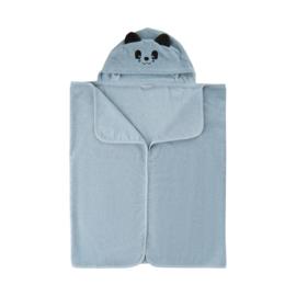 Pippi Babywear - Badhanddoek met capuchon - lichtblauw