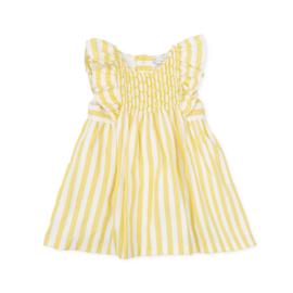 Tutto Piccolo - Geel gestreept jurkje