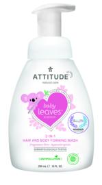 Attitude Baby Leaves - 2-in-1 shampoo & body foaming wash - geurvrij