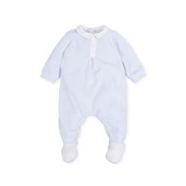 Tutto Piccolo - Blauw babypakje velours