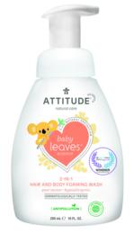 Attitude Baby Leaves - 2-in-1 shampoo & body foaming wash - pear nectar