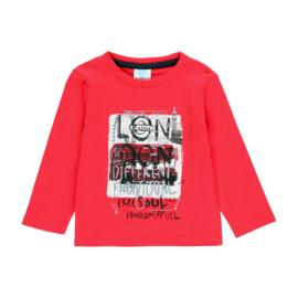 Boboli - Rode t-shirt met lange mouwen