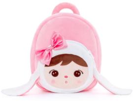 Metoo - Roze konijn rugzakje