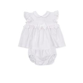 Tutto Piccolo - Wit-roze gestreept jurkje en bijpassend broekje