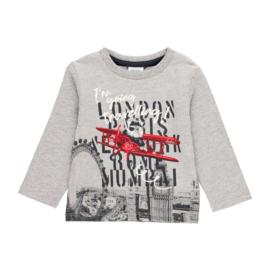 Boboli - Grijze t-shirt met lange mouwen