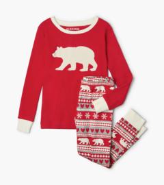Little Blue House - Pyjama set - Fair Isle Bear Kids