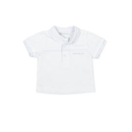 Tutto Piccolo - Wit met lichtblauw polo shirtje