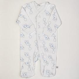 Pippi Babywear - Slaapromper met voetjes - blauwe olifantjes