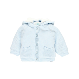 Boboli - Gebreid babyjasje blauw
