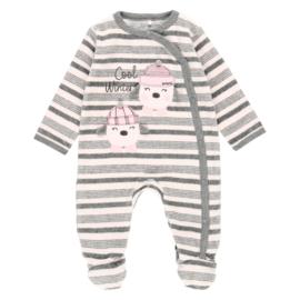 Boboli - Velours pyjama roze gestreept