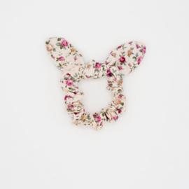Noah & Sisi - Katoenen scrunchie met strikje Emma - bloemenprint