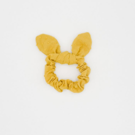 Noah & Sisi - Katoenen scrunchie met strikje Emma - okergeel