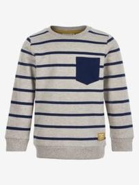 En Fant - Pullover grijs gestreept voor jongens