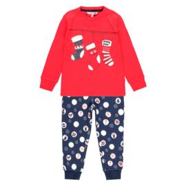 Boboli - Fleece pyjama set Kerst - rood