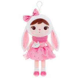 Metoo - Roze konijn met handtasje mini
