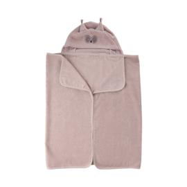 Pippi Babywear - Badhanddoek met capuchon - icy roze